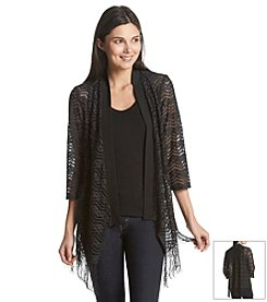 R&M Richards® Glitter Fringe Shrug
