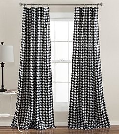 Half Moon Houndstooth Room Darkening Window Curtain