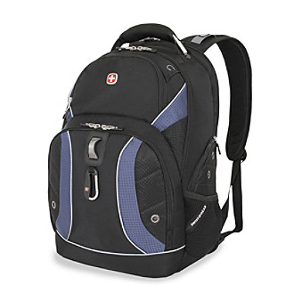 "SwissGear® 18.5"" Black Cod and Navy Alpine Scansmart Backpack"