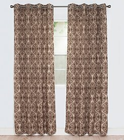 Lavish Home Dana Flocked Window Curtains