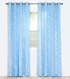 Lavish Home Inas Embroidered Window Curtain