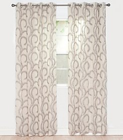 Lavish Home Andrea Embroidered Window Curtains