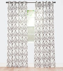 Lavish Home Valencia Embroidered Window Curtains