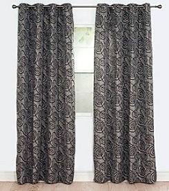 Lavish Home Joy Jacquard Window Curtains