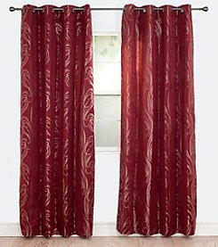 Lavish Home Dinah Jacquard Window Curtains
