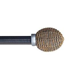 Lavish Home Basket Weave Curtain Rod