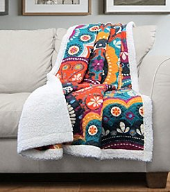 Lush Decor Maya Sherpa Throw