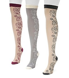 MUK LUKS® Women's 3-Pair Over-the-Knee Microfiber Socks