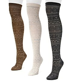 MUK LUKS® Women's 3-Pack Microfiber Over-the-Knee Socks