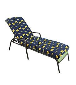 NCAA® Michigan Wolverines 3-pc. Chaise Lounge Cushion