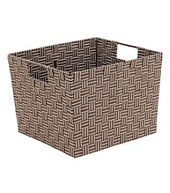 Simplify Large Woven Strap Tote with Open Handles