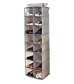 Laura Ashley® Non-Woven 16-Pocket Shoe Organizer