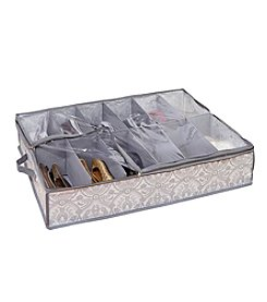 Laura Ashley® Non-Woven 12-Pair Under-the-Bed Shoe Box