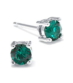 Athra Silver-Plated Swarovski Crystal Stud Earrings