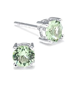 Athra Silver-Plated Swarovski Crystal Stud Earrings