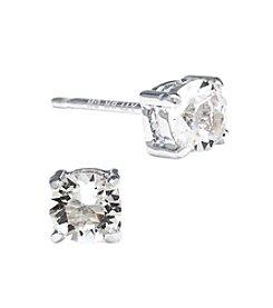 Athra Silver-Plated Swarovski® Crystal Stud Earrings