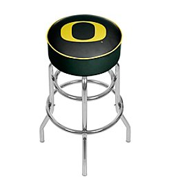 NCAA® University of Oregon Swivel Bar Stool - Carbon Fiber