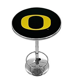 NCAA® University of Oregon Chrome Pub Table - Carbon Fiber