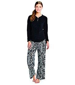HUE® Fleece Pajama Set