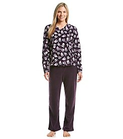 Intimate Essentials® Fleece Pajama Set