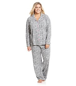 Intimate Essentials® Plus Size Button Up Pajama Set