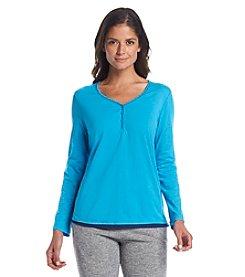 KN Karen Neuburger Henley Pajama Top