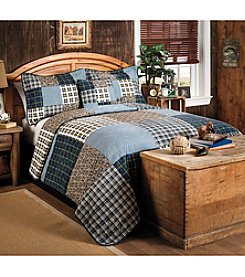 Ruff Hewn Navy Patchwork Quilt Collection