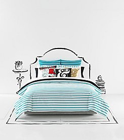 kate spade new york® Turquoise Harbour Stripe Comforter Collection