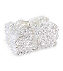 LivingQuarters 4-pk. White Cotton Hand Towels