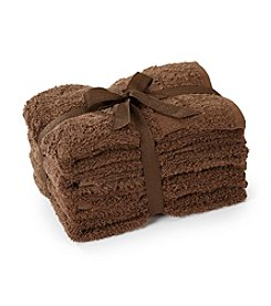 LivingQuarters 4-pk. Cocoa Cotton Hand Towels