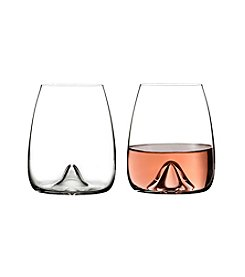 Waterford Elegance Set Of Two Stemless Wine Glasses