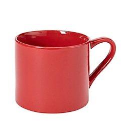 LivingQuarters Red Cappuccino Mug