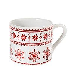 LivingQuarters Fair Isle Cappuccino Mug