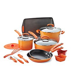 Rachael Ray® 16-Pc.Orange  Kitchen in a Box Nonstick Cookware Set