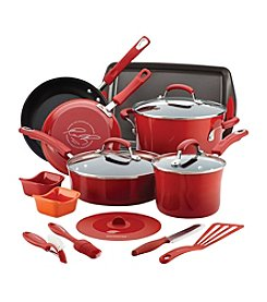 Rachael Ray® Red 16-Pc. Kitchen in a Box Nonstick Cookware Set