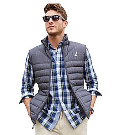 Nautica® Men's Plaid Packable Vest