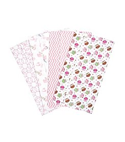Trend Lab® 4-Pack Owl Garden Burp Cloths