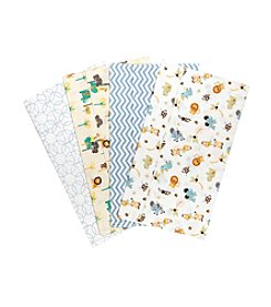 Trend Lab® 4-Pack Jungle Friends Burp Cloths