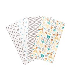 Trend Lab® 4-Pack Lullaby Zoo Burp Cloths