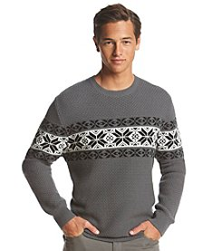 John Bartlett Consensus Men's Snowflake Chest Crewneck Sweater