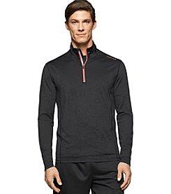 Calvin Klein Performance Men's 1/4 Zip Tonal Logo Jacquard Pullover