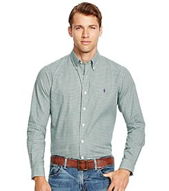 Polo Ralph Lauren® Men's Long Sleeve Checked Twill Button Down Shirt