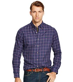 Polo Ralph Lauren® Men's Long Sleeve Twill Tattersall Button Down Shirt