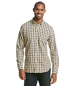 Le Tigre Men's Long Sleeve Twill Plaid Button Down Shirt