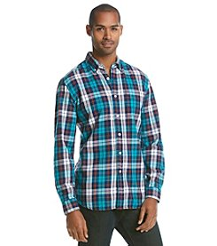 Le Tigre Men's Long Sleeve Twill Plaid Button Down