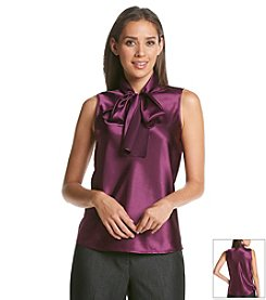 Nine West® Solid Bow Blouse