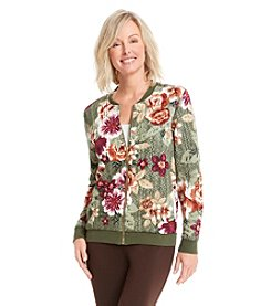 Alfred Dunner® Calabria Floral Print Jacket