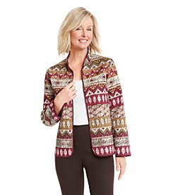 Alfred Dunner® Calabria Multi Print Jacket