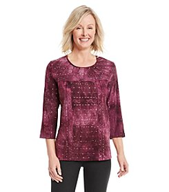 Alfred Dunner® Calabria Tie Dye Sequin Knit Top