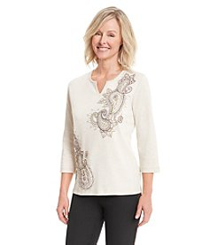 Alfred Dunner® Calabria Paisley Print Knit Top